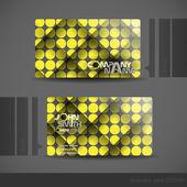 Business Card Design. — Stock Vector