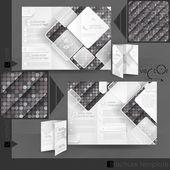 Business Brochure Template Design — Stock Vector