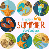 Summertime Traveling Template — Stock Vector
