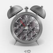 金属的经典风格的闹钟. — 图库矢量图片