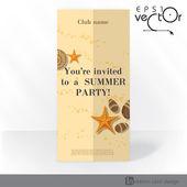 партия приглашения карты дизайн, шаблон — Cтоковый вектор