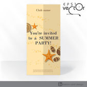 Party Invitation Card Design, Template — Stok Vektör