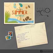 Старый дизайн открытки, шаблон — Cтоковый вектор