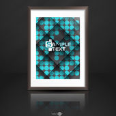 Photo Frame On The Wall — Stock Vector