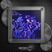 Metallic Frame With Screws — Stock Vector