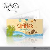 Invitation Card Design, Template — Stock Vector