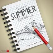 Insieme di disegnati a mano vari elementi — Vettoriale Stock
