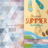 Greeting Card Design, Template — Vector de stock