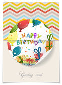 Greeting Card Design, Template — Stock Vector