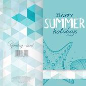 Greeting card design, modello — Vettoriale Stock