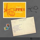 Vecchia cartolina design, modello — Vettoriale Stock
