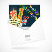 Postal Envelopes With Greeting Card — Stock Vector