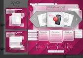 Website Design Template Menu Elements — Stockvector
