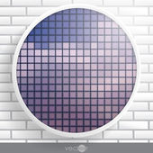 Abstract Round Shape With Frame — Vector de stock