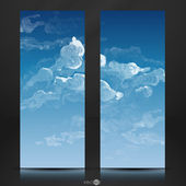 Nube, cielo fondo pintado — Vector de stock