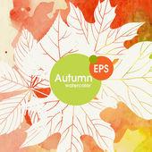 Creative Autumn Background — Cтоковый вектор