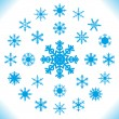 copos de nieve - conjunto de 25 piezas — Vector de stock
