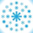 fiocchi di neve - set di 25 pezzi — Vettoriale Stock