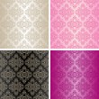 Seamless wallpapers - set of four colors. — Stock Vector #13692486