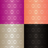 Seamless wallpapers - set of four colors. — Stock Vector
