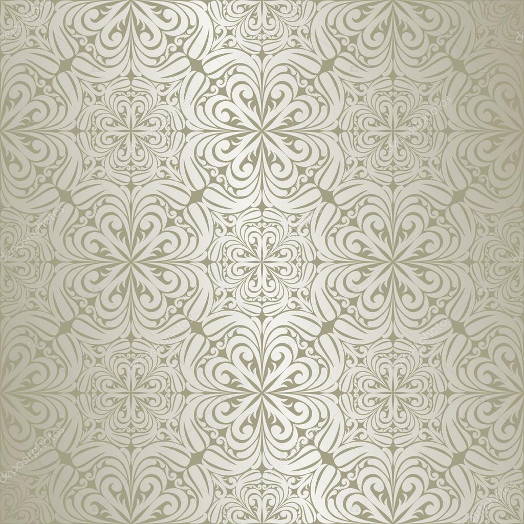 silver seamless wallpaper stock vector natali123457