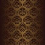 Brown seamless wallpaper. — Stock Vector
