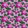 Floral seamless pattern with violet flowers. — Vetor de Stock  #18507495