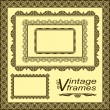 Vintage frames - vector set. — Stock Vector