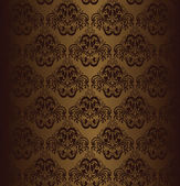 Brown seamless wallpaper. — Stock Vector