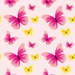 Seamless pattern with butterflies. — Stock Vector