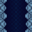Luxury dark blue Background decorated a blue border. — Vetorial Stock