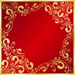 Royalty-Free Stock Vector Image: Luxury red Background decorated a gold frame.