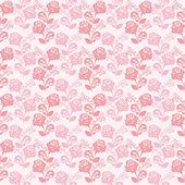 Sem costura suavemente rosa papel de parede com rosas. — Vetorial Stock