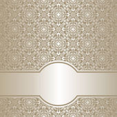 Luxury silver ornamenal Background. — Stock Vector