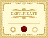 Certificate template. — Stock Vector