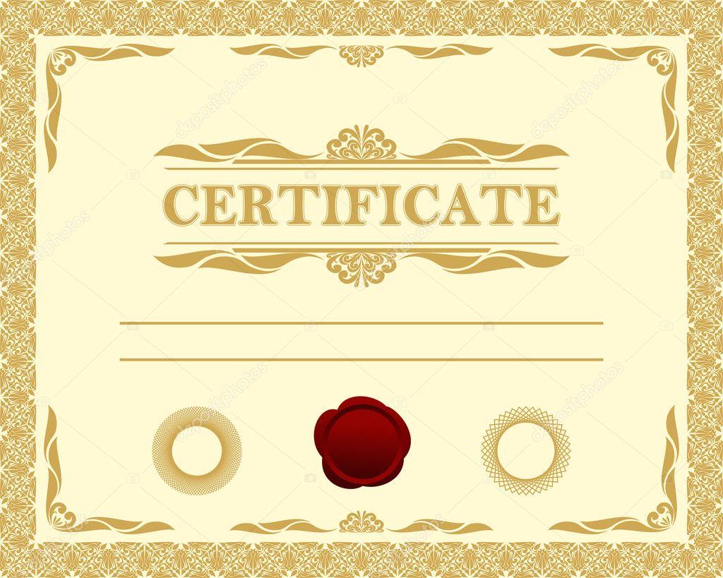 Certificate template. — Stock Vector © natali123457 #20250057