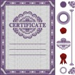 Certificate Template with additional elements — Stock Vector