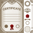 Certificate Template with additional elements. — Stock Vector