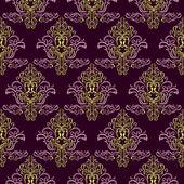 Nahtlose tapete violett farbe. — Stockvektor