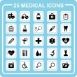 25 medical icons — Stock Vector