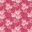 Seamless pattern with roses in shades of pink  — Stockvektor