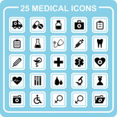 25 medical icons — Stok Vektör