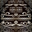 Silver vintage Borders and design elements - vector set — Stock Vector #26463659