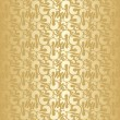 Golden abstract seamless pattern. — Stock Vector