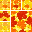 Autumnal seamless pattern with maple leaves. — Stock Vector