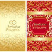 Invitation card design — Stock Vector