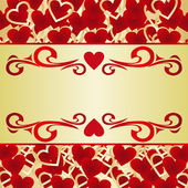 Valentine's Card or a label. — Stock Vector
