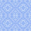 Seamless gently-blue retro Wallpaper. — Vector de stock #33814793