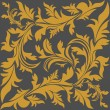 Floral pattern with large Ornament. — Vettoriale Stock #33814843