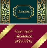 Plantilla de tarjeta de invitación — Vector de stock